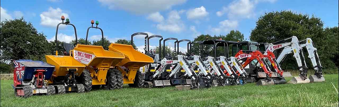 Dig and shift groundworks and excavator hire